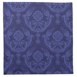 Luxury blue floral damask wallpaper napkin