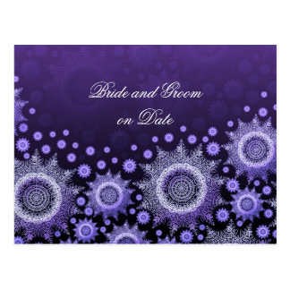 Luxury Blue Winter Snowflakes Save date card