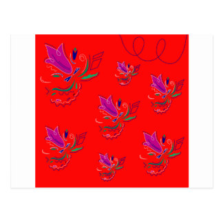 Luxury bolivia flowers / Ethno collection Postcard