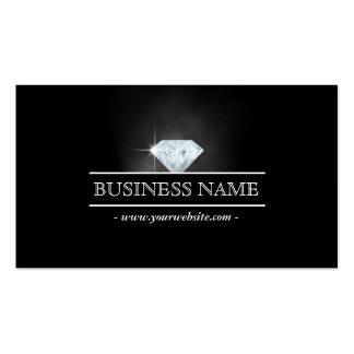 Luxury Bright Diamond Dark Business Card