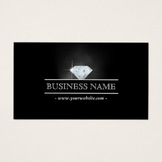 Luxury Bright Diamond Jewelry Business Card