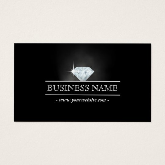 Luxury bright diamond jewelry business card zazzle luxury bright diamond jewelry business card colourmoves Image collections