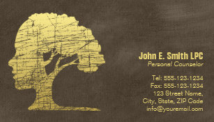 Psychologist business cards zazzle luxury brown psychologist personal counselor business card magnet colourmoves