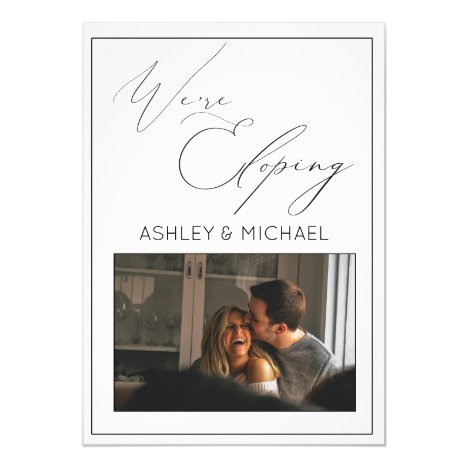 LUXURY CALLIGRAPHY   We're Eloping Reception Invitation
