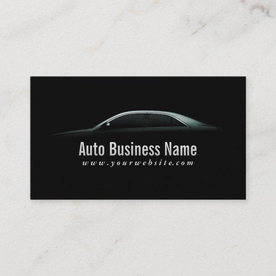 Luxury Car Outline Auto Business Card Zazzle Com