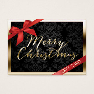 Luxury Christmas Gold Border Gift Certificate