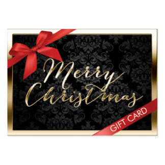 Luxury Christmas Gold Border Gift Certificate Large Business Card