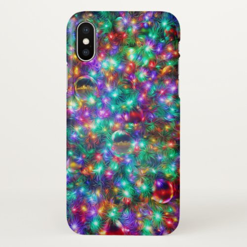 Luxury Christmas Sparkling Stars iPhone X Case