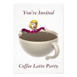 Luxury Coffee Invitation Coffee Lovers Delight