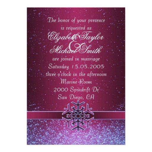 Luxury Cool Christmas Snowflake Wedding Invite Custom Invites