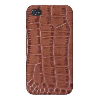 Luxury crocodile brown leather Case