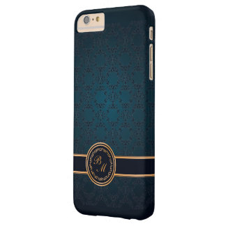 Luxury Damask Vintage Initials Barely There iPhone 6 Plus Case