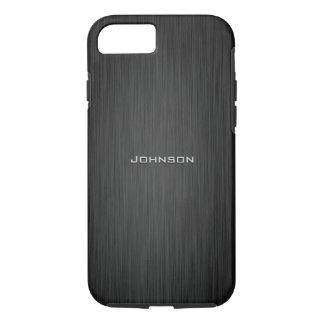 Luxury Dark Black Rosewood Pattern Custom Monogram iPhone 7 Case