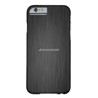 Luxury Dark Black Rosewood with Custom Name | Barely There iPhone 6 Case