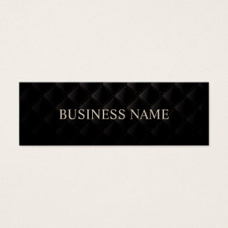 Luxury Dark Diamond Quilted Leather Skinny Mini Business Card
