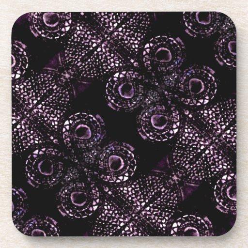 Luxury Dark Pattern Beverage Coaster