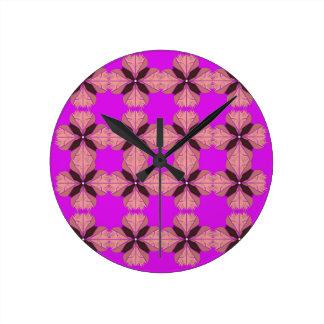 Luxury design vint. mandalas PINK Round Clock