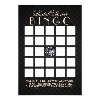 Luxury Diamond Bridal Shower Bingo Cards