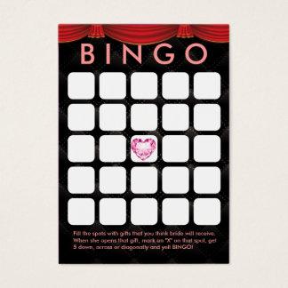 Luxury Diamond Heart Bridal Shower 5x5 Bingo Card
