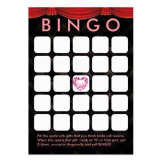 Luxury Diamond Heart Bridal Shower 5x5 Bingo Card Large Business Cards (Pack Of 100)