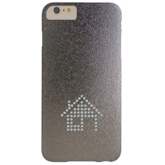 Luxury Diamond Home | Chrome Background Barely There iPhone 6 Plus Case