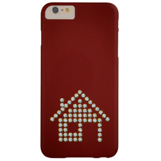 Luxury Diamond Home | Red Background Barely There iPhone 6 Plus Case