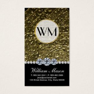 Luxury Diamonds Gold Pearls Business Card
