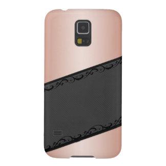 Luxury  discrete stripes stylish lace case for galaxy s5