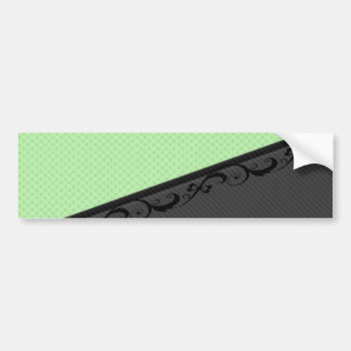 Luxury  discrete stripes stylish lace polka dots bumper sticker