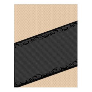 Luxury  discrete stripes stylish lace polka dots postcard