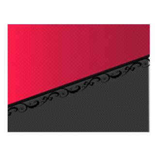 Luxury  discrete stripes stylish lace postcard