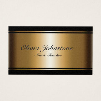 Luxury Effect Gold and Black Musical Notes Business Card
