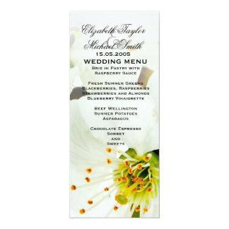 Luxury Elegant Bloom Flowers Wedding Menu Custom Announcement