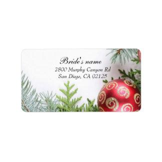 Luxury Elegant Christmas Winter Address label Custom Address Labels