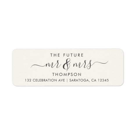 Luxury Elegant Future MR and MRS Ivory Label