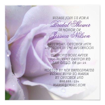 Luxury Elegant Purple Rose Wedding Shower Invite