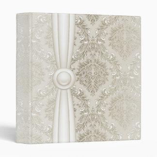 Luxury Elegant Silver Damask Binder