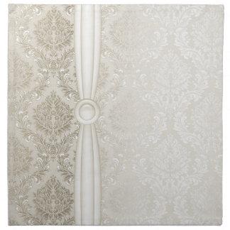 Luxury Elegant Silver Damask Napkins