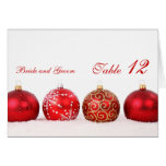 Luxury Elegant Winter Holiday Table number card Card