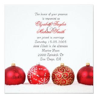 Luxury Elegant Winter Holiday Wedding Invite