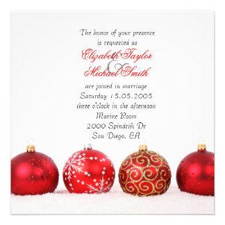 Luxury Elegant Winter Holiday Wedding Invite Invite