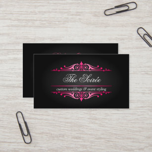 Event coordinator party wedding business cards zazzle luxury event planner business card colourmoves