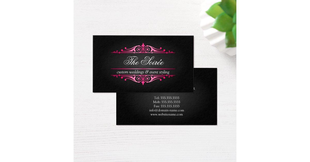 Luxury Event Planner Business Card   Zazzle.com