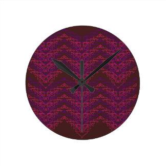 Luxury exotic geom. elements round clock