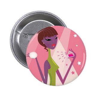 Luxury fashion button with Perfume