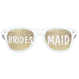 Luxury faux gold leaf Bridesmaid Wayfarer Sunglasses