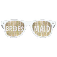 Luxury faux gold leaf Bridesmaid Retro Sunglasses