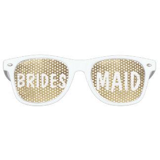 Luxury faux gold leaf Bridesmaid Retro Sunglasses