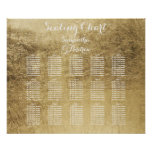 Luxury faux gold leaf table seating chart poster