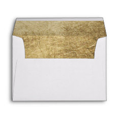 Luxury Faux Gold Leaf Wedding Envelope at Zazzle